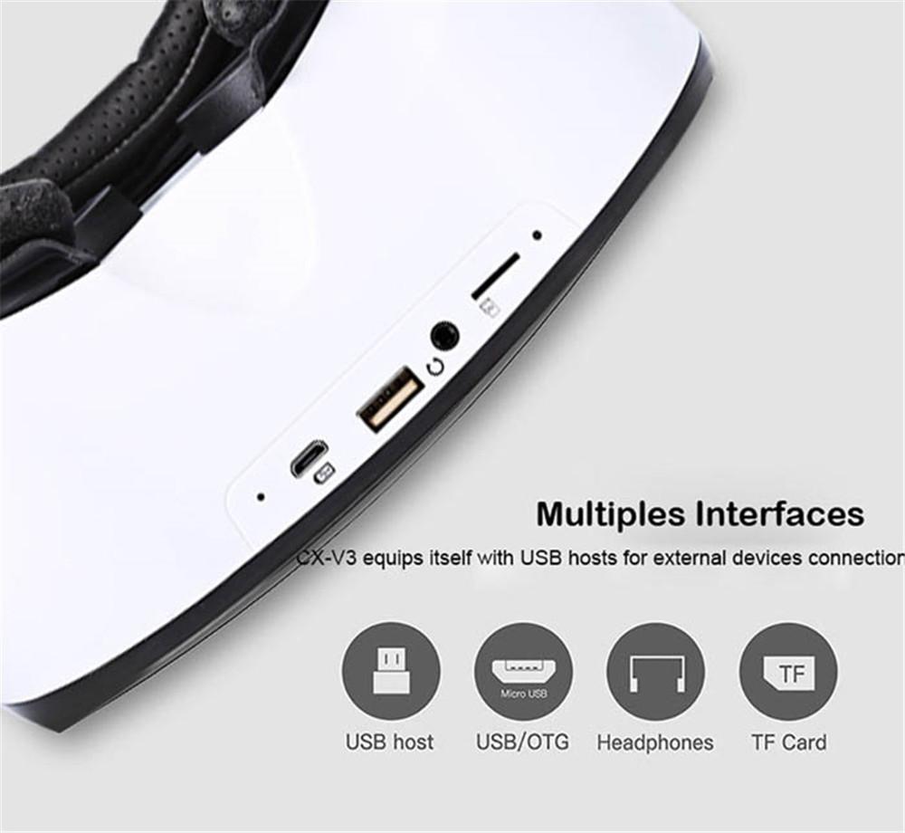 ถูก VR SKY CX-V3 All-in-one 3Dชุดหูฟังความจริงเสมือนแว่นตา1080จุด100องศาFOVที่มีทัชแพดบัตรTFสล็อต