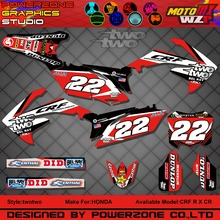 CR CRF 250 450 CR250F X CR450F FX two Customized Graphics Backgrounds Decals 3M Stickers Motorcycle Dirt Bike MX Parts - PowerZone Co.,Ltd store