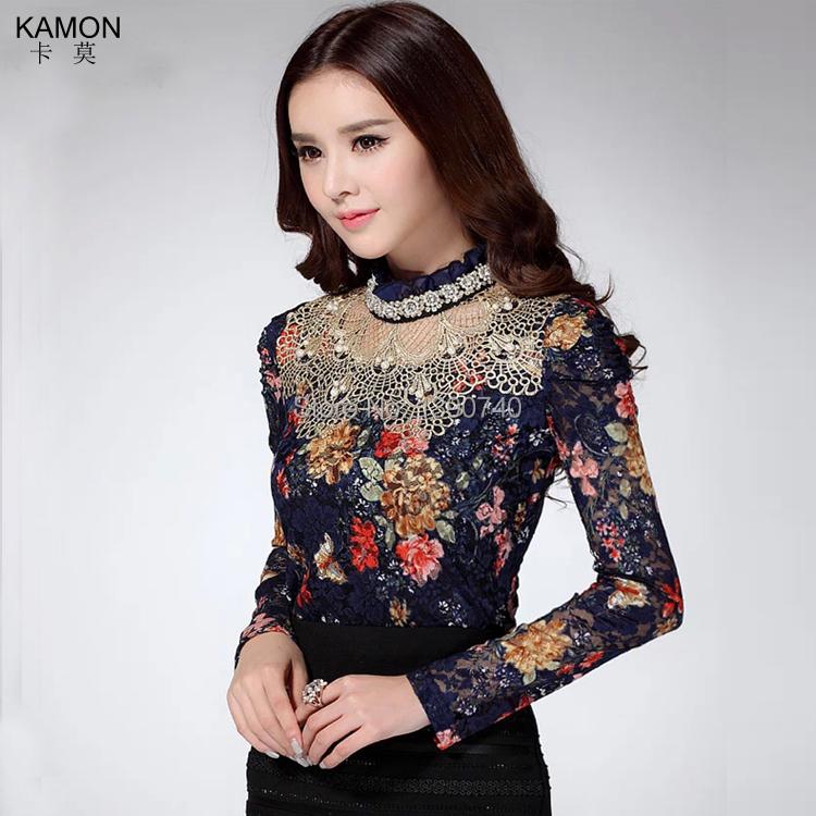 Женские блузки и Рубашки KAMON 2015 Roupas Femininas 5026 женские блузки и рубашки summer blouse blusas femininas 2015 roupas s