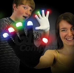 4pcs/2pair/lot LED Party Gloves Flashing Finger Lighting Glow Gloves Toys,Led Light Bar/Stage Supplies(China (Mainland))