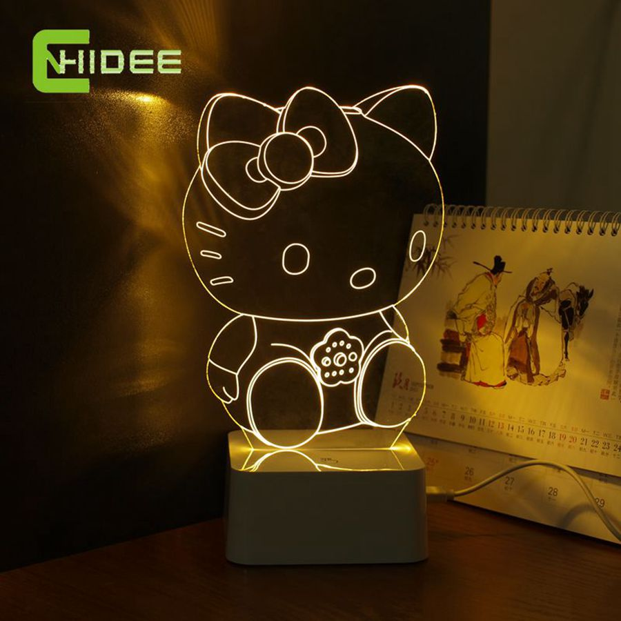 CNHidee New Design Crystal Lampe Novelty Art Decor 3d Lamp For Luces ...