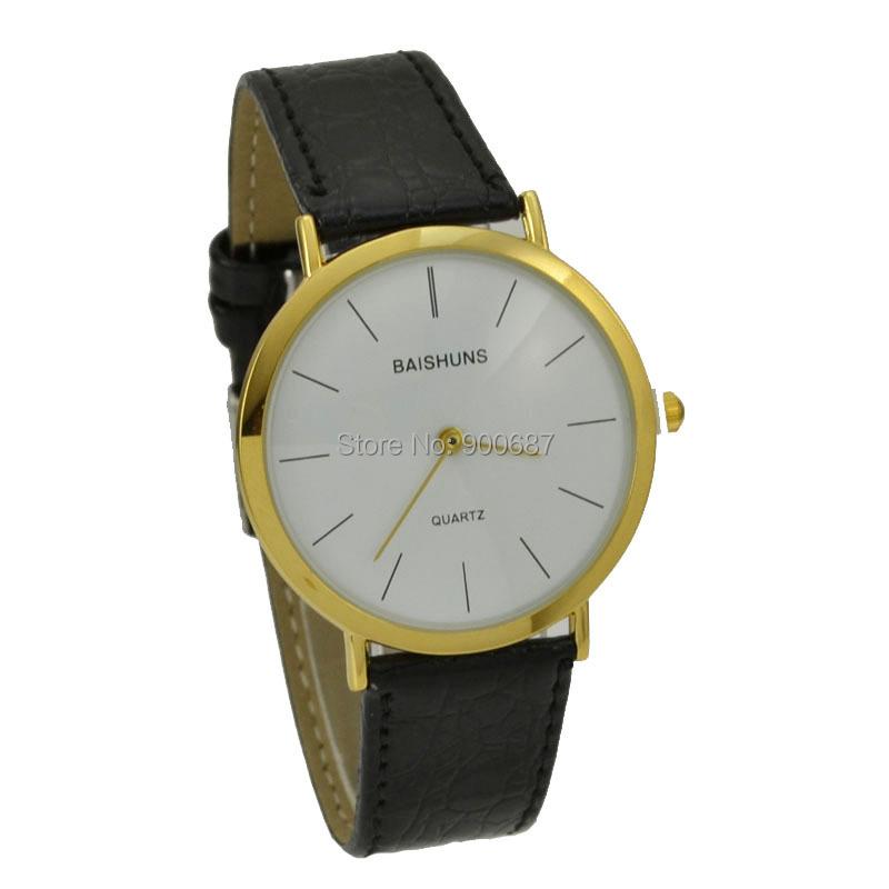Дизайн Simple краткий тонкий часы мужчины роскошь золото кварцевый часы наручные часы BAISHUNS 3118 relojes пункт