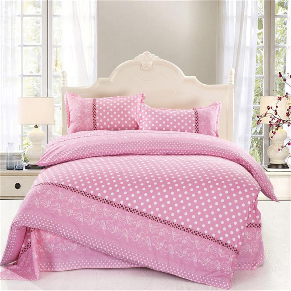 Pink Polka Dot Bedding Double