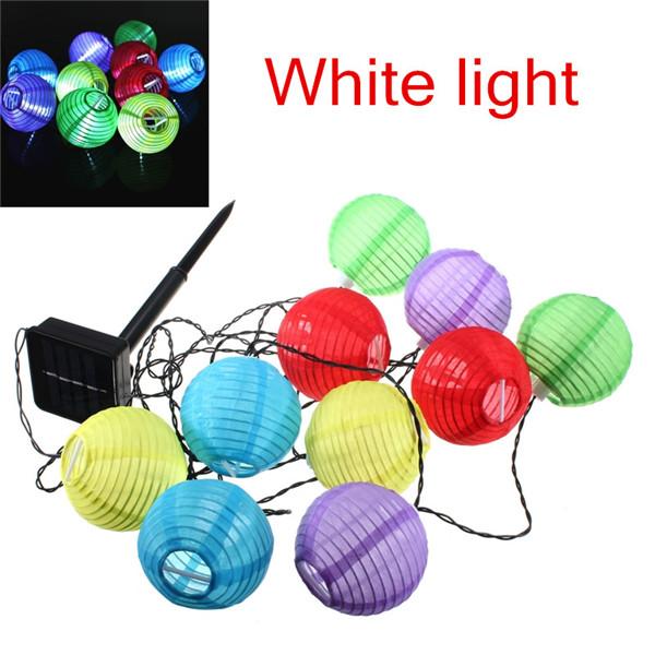 LED Solar Chinese Lantern Garden String Lights Lamp