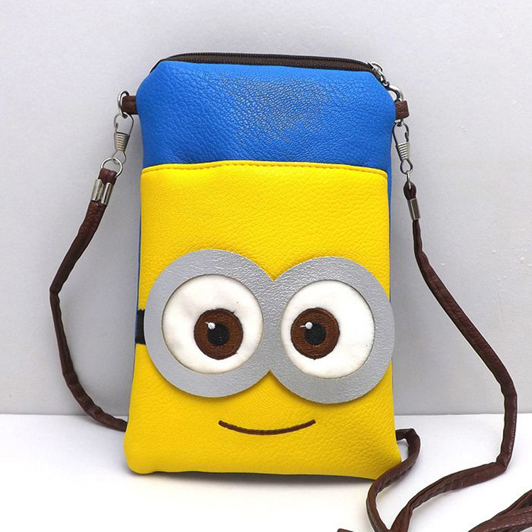2015 New Arrival Fashion Cartoon Messenger Bag Phone Coin Purse Drop Shipping BG 0476