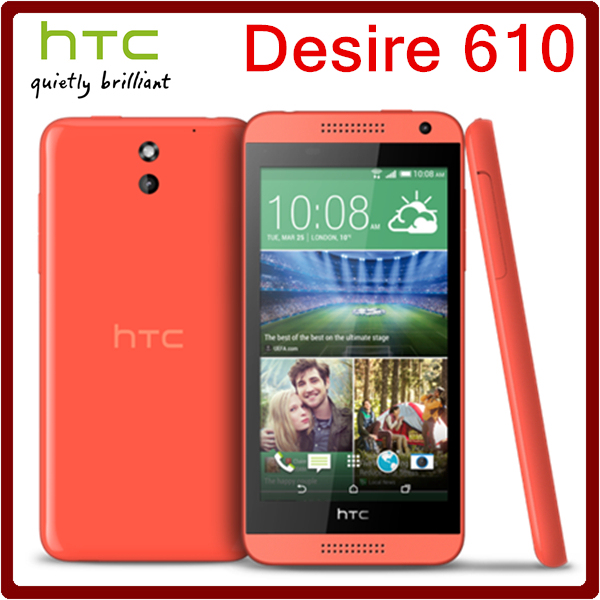 610 Оригинальный Разблокирована HTC Desire 610 8MP 2040 мАч 4.7 Дюйм(ов) 8 ГБ ROM Сенсорный Экран Восстановленное Мобильного Телефона Бесплатная Доставка