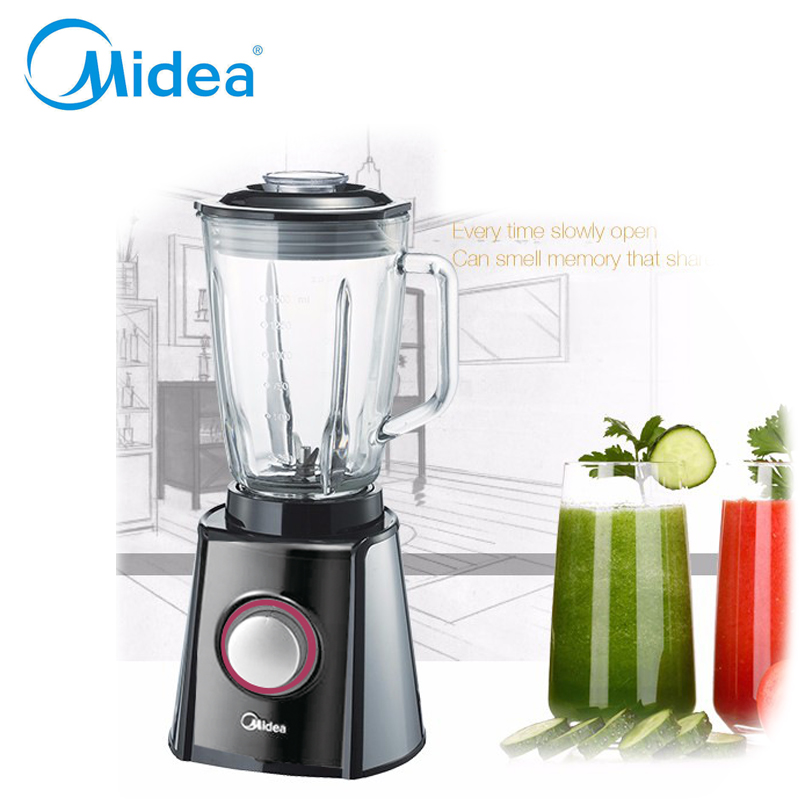 BPA Free 600W Heavy Midea brand Blender Mixer Juicer High Power Food Processor Ice Smoothie Bar Fruit Blender home use kitchen(China (Mainland))