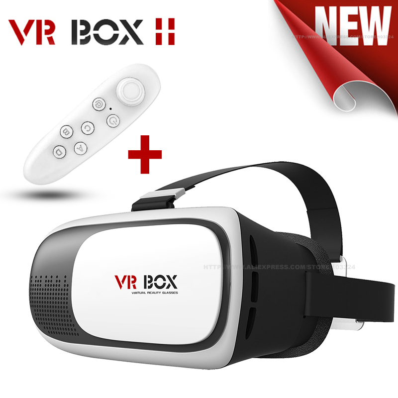 2016 VR BOX II 3D Glasses New Technology Virtual Reality Glasses Mobile Phone Head Mount 3D Moive Game + Bluetooth Controller(China (Mainland))