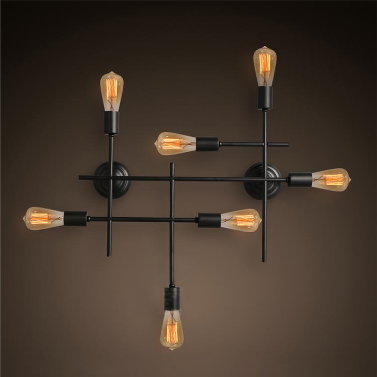 r tro industrielle loft grande edison applique murale lampe vintage am ricain h tel de campagne. Black Bedroom Furniture Sets. Home Design Ideas