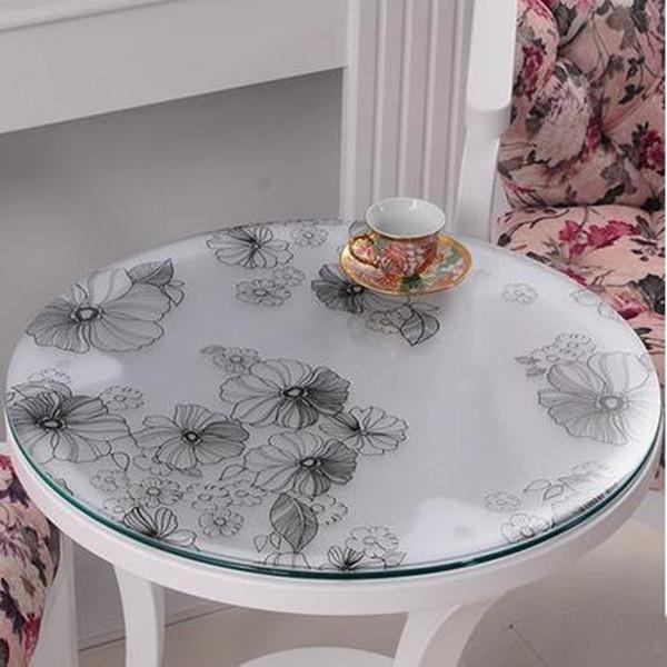 ronde plaque de verre promotion achetez des ronde plaque. Black Bedroom Furniture Sets. Home Design Ideas