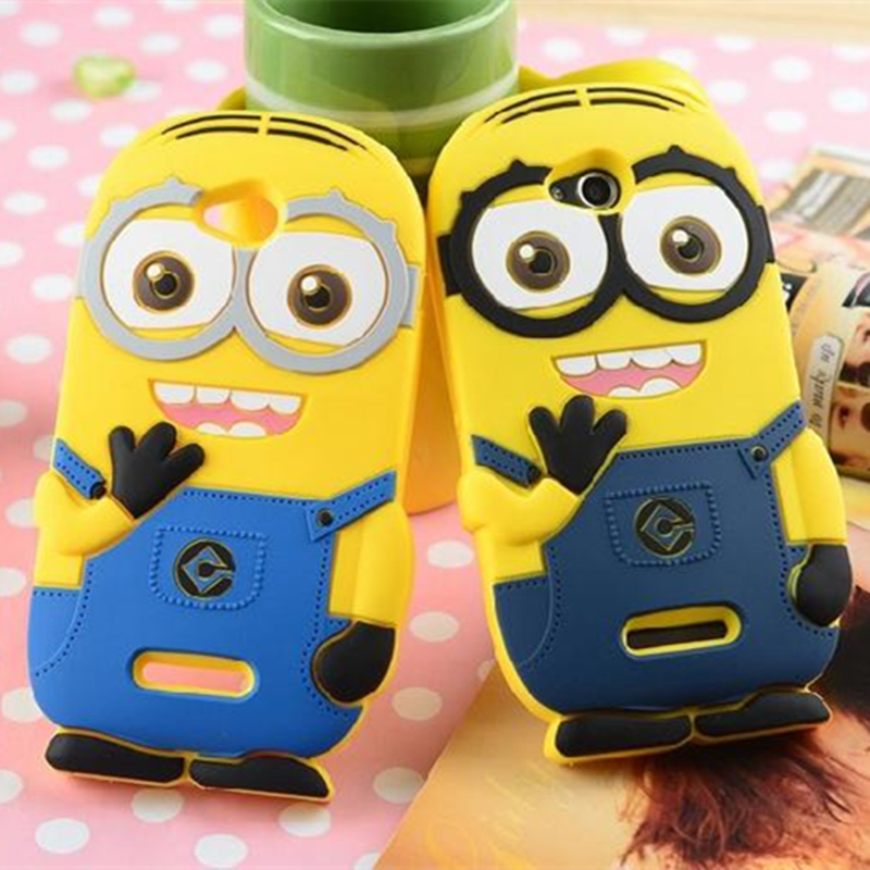 Cute Cartoon Despicable Me Minions Pattern Soft Silicon Case for Sony Xperia C S39h C2305 Phone Bag Case(China (Mainland))