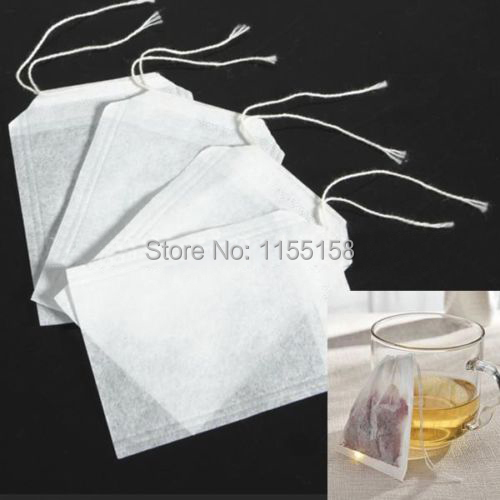 100pcs/lot Empty Teabags String Heat Seal Filter Paper Herb Loose Tea Bags Teabag wholesale T1359 P(China (Mainland))