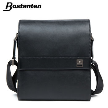Bostanten Man Vertical Genuine Leather bag Men Messenger Commercial Men's Briefcase Designer Handbags High Quality Shoulder Bags