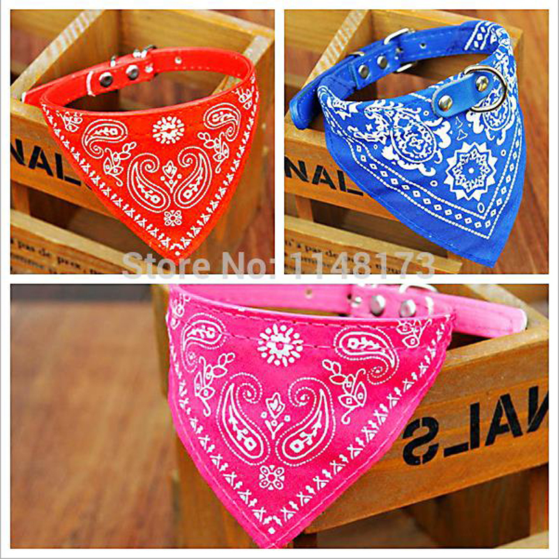 7 Colors Optional Adjustable Pet Dog Scarf Collar Puppy Cat Bandana Decoration Neckerchief 4 Sizes Paisley Particular Custom(China (Mainland))