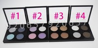 4PCs Professional Matte Eye Shadow 4 colours glitter eyeshadow naked eyeshadow palette colorful makeup eye shadow Free Shipping