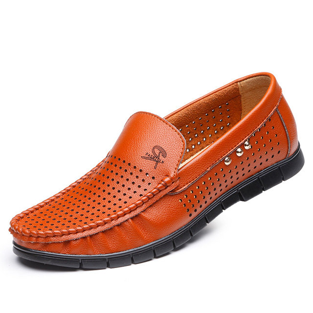 Лето кожи мокасины мужчины мокасины лето мужской обуви мужчины квартиры дышащая туфли-повседневная ...