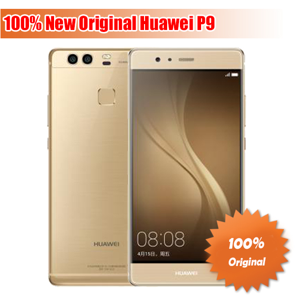 "Original HuaWei P9 4G LTE Cell Phone Kirin 955 Android 6.0 5.2"" FHD 1080P 4GB RAM 64GB ROM Dual Back 12.0MP Camera(China (Mainland))"