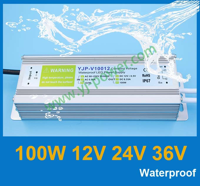 Трансформатор освещения YONGJIA POWER led 100w 12v 24v 36v 60W 12v, DHL/Fedex, 10pcs/lot YJP-V10012,YJP-V10024,YJP-V10036