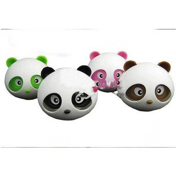 Ekron Cute shape Panda head bottle outlet car perfume(China (Mainland))