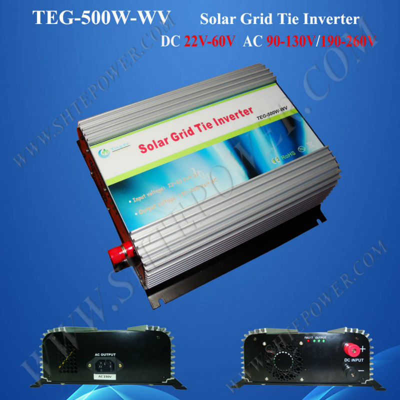 500W Solar Grid Tie Power Inverter DC 22V-60V Input, Pure Sine Wave Inverter(China (Mainland))