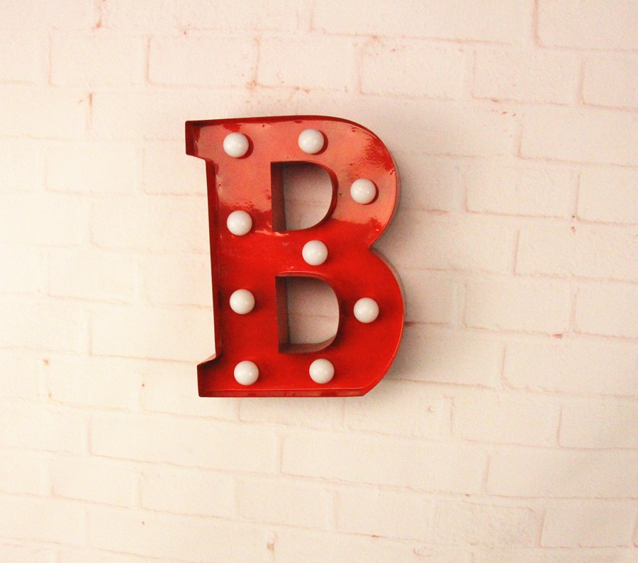 12″ metal Letters light LED alphabet Marquee Sign Vintage metal letter xmas light Indoor wall Deration customize order