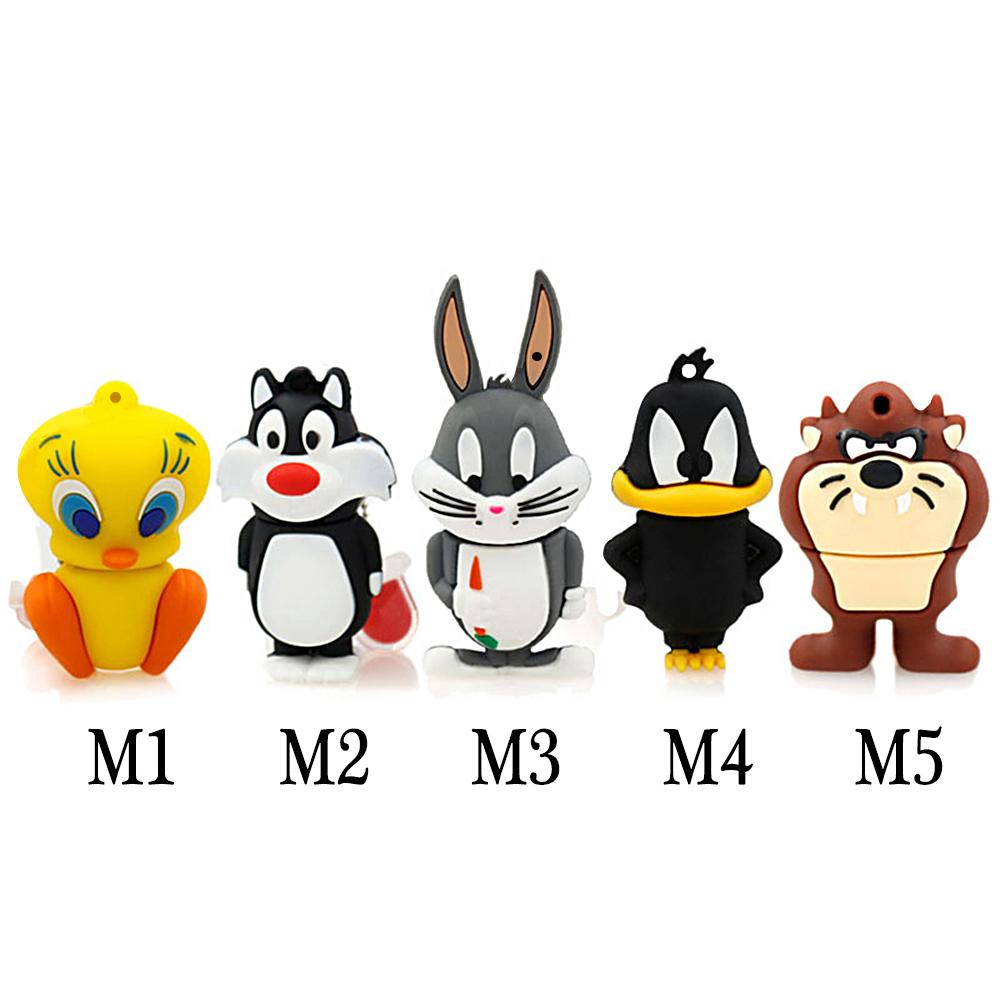 Hot Sale flash memory drives Usb2.0 Looney Tunes usb flash drive 64g pen drive 32g pendrive 16g 8g 4g Cute Cartoon(China (Mainland))