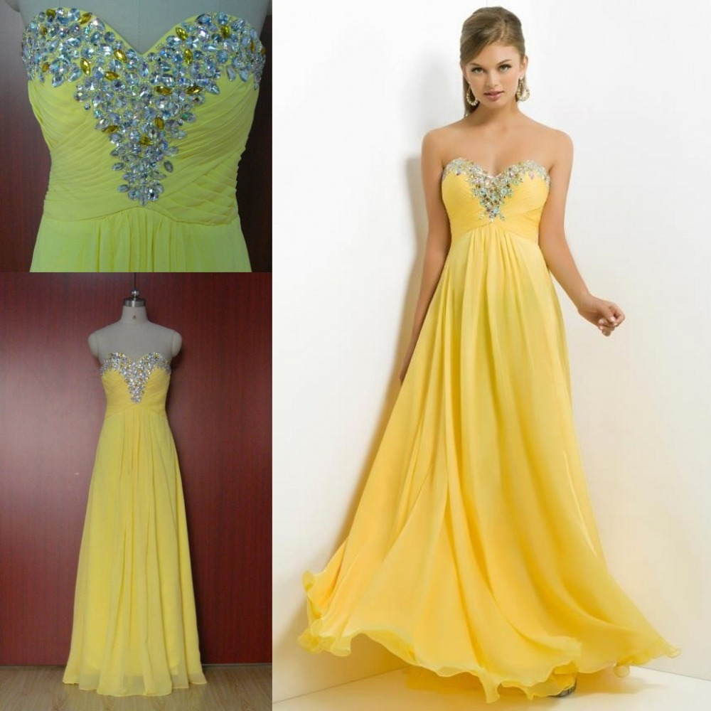 Baby yellow bridesmaid dresses discount wedding dresses for Yellow wedding dresses for sale