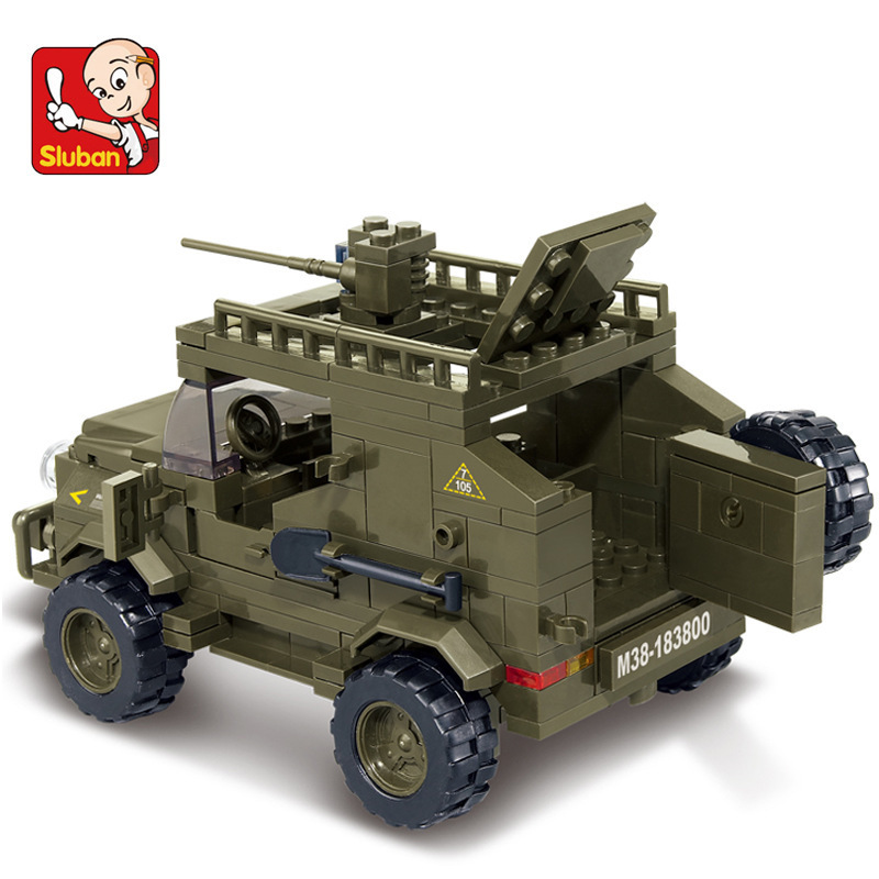 Lego Army Jeep Building Instructions