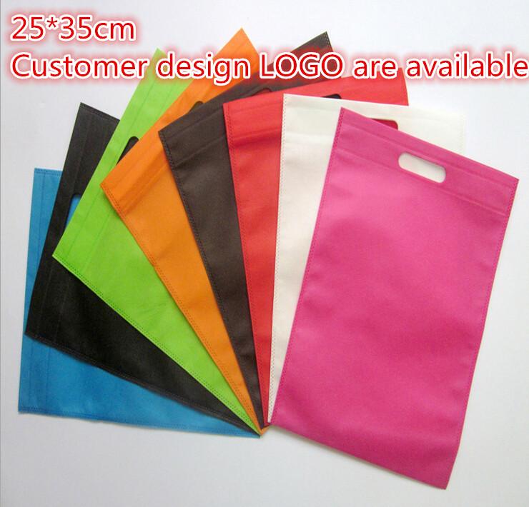 25*35cm 10 pcs/lot linen cotton bags for gift large gift bag handles laminated bag(China (Mainland))