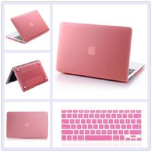 12 Colors 2in1 Rubberized Hard Cut-out Case Laptop Shell Cover + Keyboard Cover For Macbook pro 13 A1278 with logo