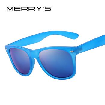 MERRY'S Men Fashion Sunglasses HOT Selling Pop Brand Sunglasses Women Rivet Mirror Sunglasses 16 Color