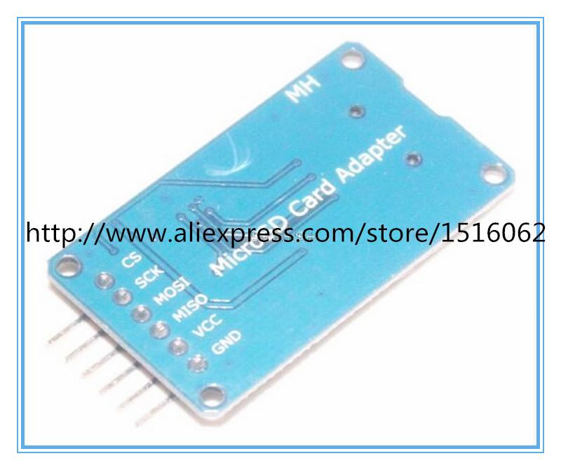 5pcs Hot Sale Good Micro SD Storage Board TF Card Reader Memory Shield Module SPI for arduino Diy Starter Kit Free Shipping