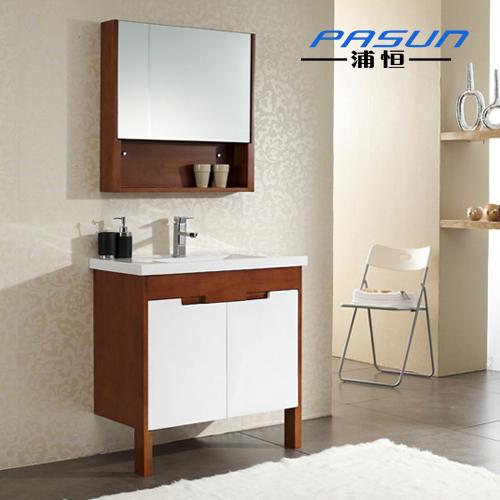 oak bathroom cabinet combination wood floor mirror cabinet storage