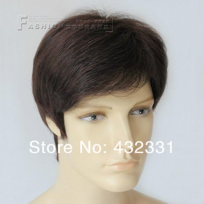 Здесь можно купить  Men Short Straight Wigs on Sale,Hair Replacement Men,Heat Resistant Young Men Wig,Nice Service Attitudes Male Short Wig Seller  Волосы и аксессуары