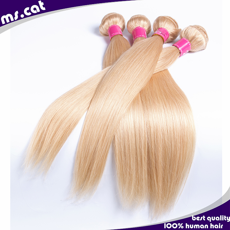 Ms cat hair 613 blonde virgin hair brazilian straight 4pcs lot remy shedding free 100% human remy hair,fast shipping by free DHL<br><br>Aliexpress