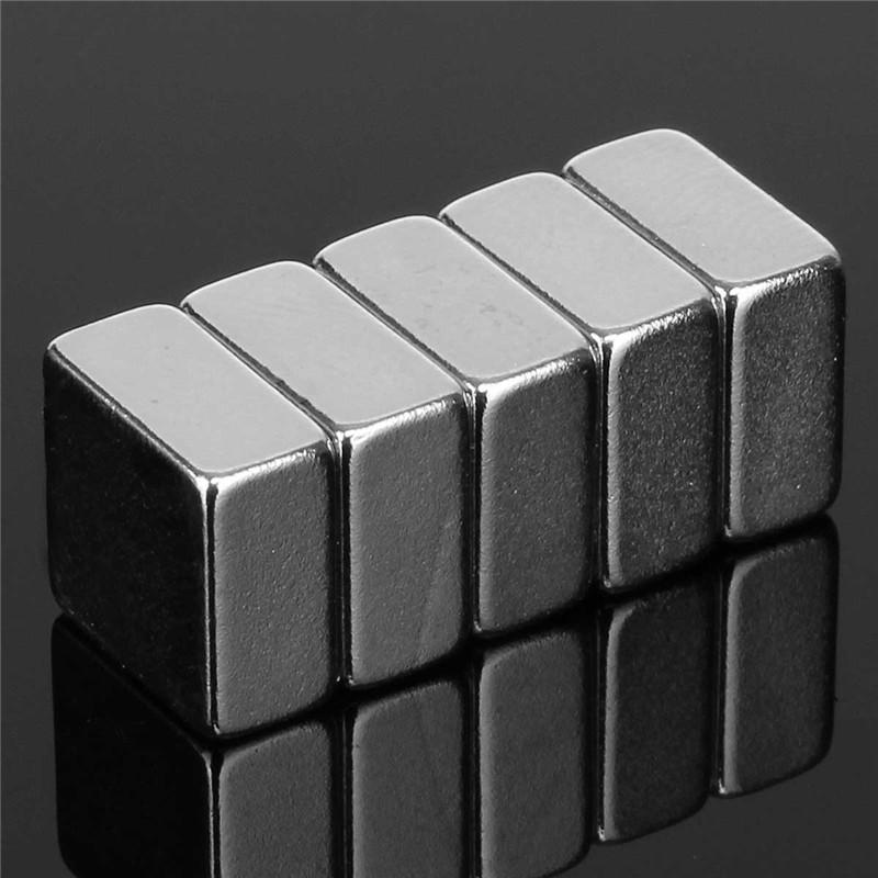 5PCS 10mm x 10mm x 5mm N52 Square Block Magnet Rare Earth Neodymium Magnet DIY Neodymium Magnet Permanent Magnet(China (Mainland))