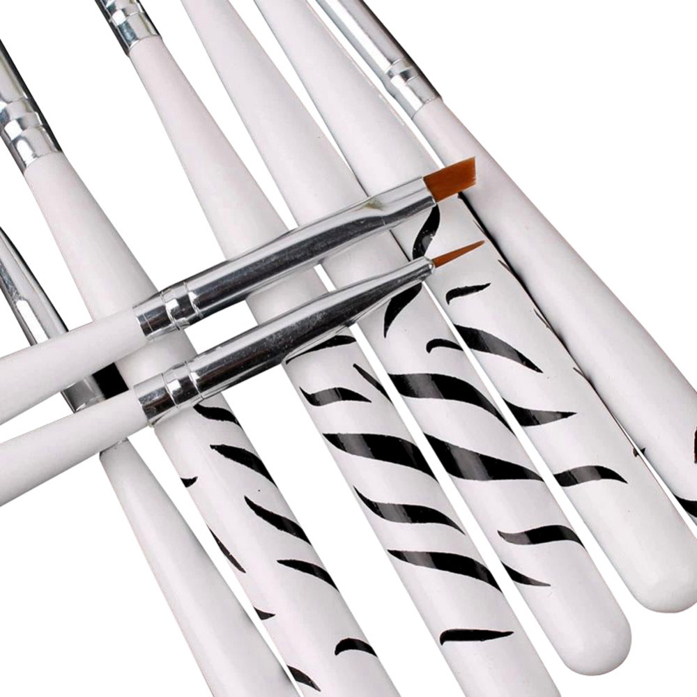 8pcs/set Nail Art Design Set Dotting Painting Drawing Polish Brush Pen Tools Zebra Nail Brush Set W1(China (Mainland))