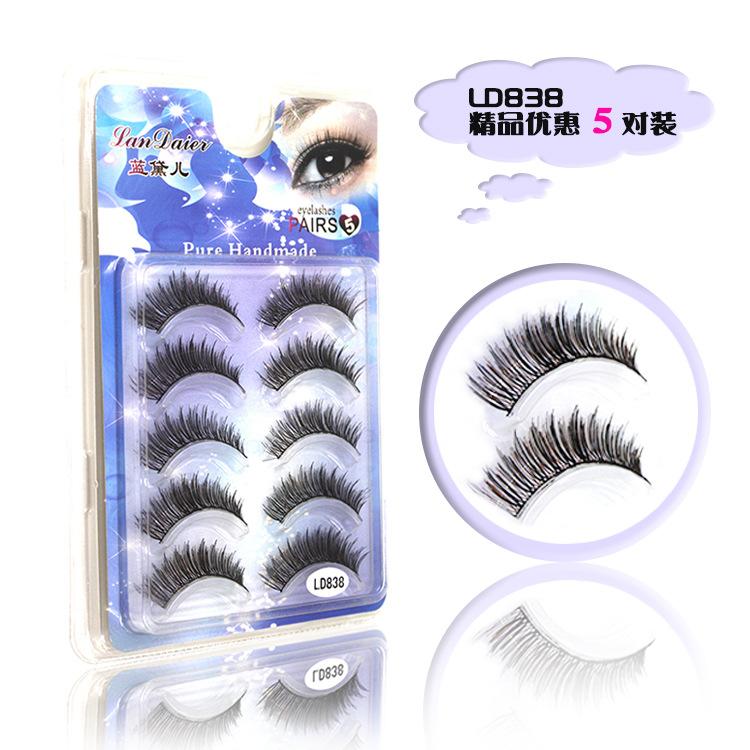 long false eyelashes fashion false eyelashes false eyelashes mix natural fake eyelashes 5 pairs(China (Mainland))