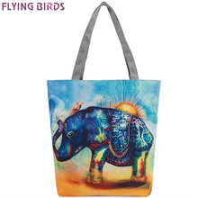 FLYING BIRDS carton printing canvas bag women handbag women's bags shoulder bag high quality fashion pouch bucket bags LM4364fb(China (Mainland))