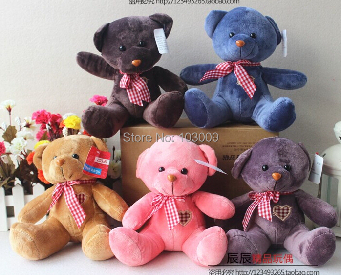Teddy Bear Baby toy Plush Kids Toys children Multicolor mixed wholesale(China (Mainland))