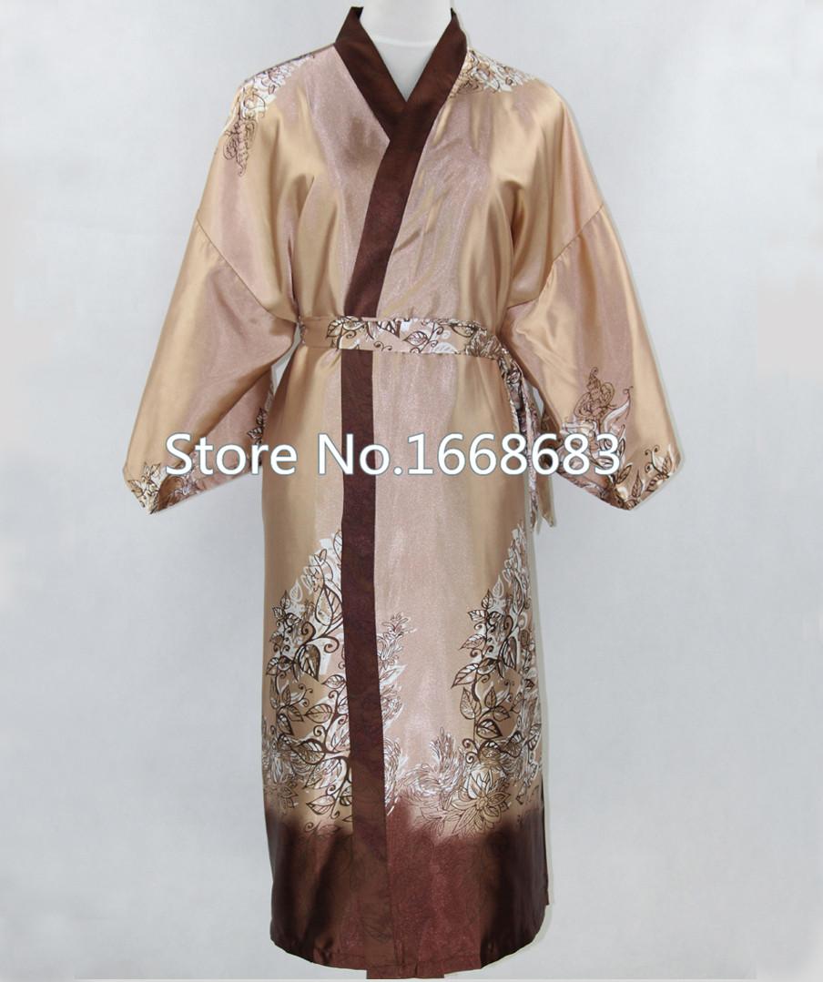 Новинка Верблюд мужского шелковое кимоно Ванна