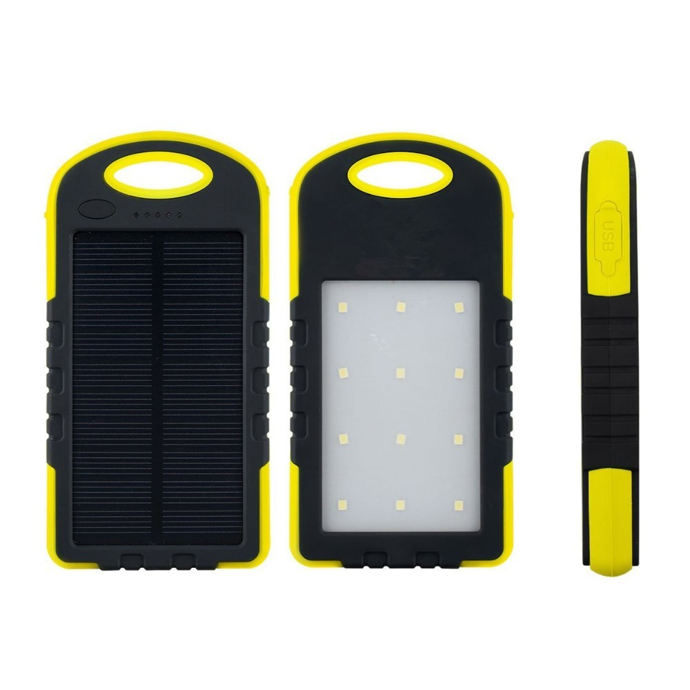 Universal Solar Power Bank Dual USB Powerbank 8000mAh External Battery Portable Charger Bateria Externa Pack for Mobile phone