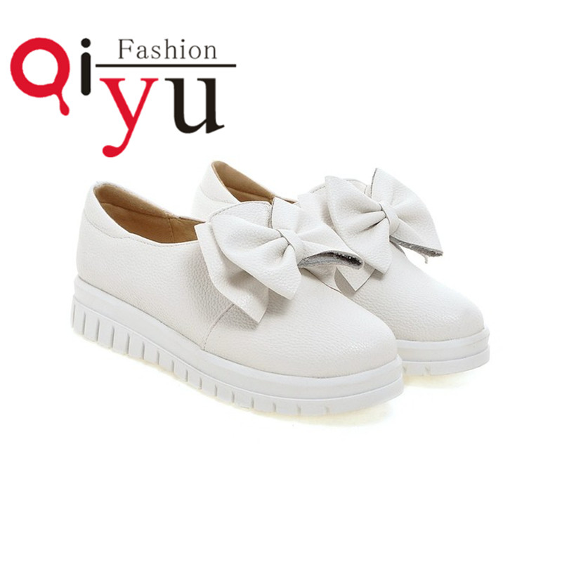 2016 New Sweet Platform Flat Shoes Round Toe Solid color Casual Women Flat Shoes Loafers Shoes size 35 39 Free Shipping<br><br>Aliexpress
