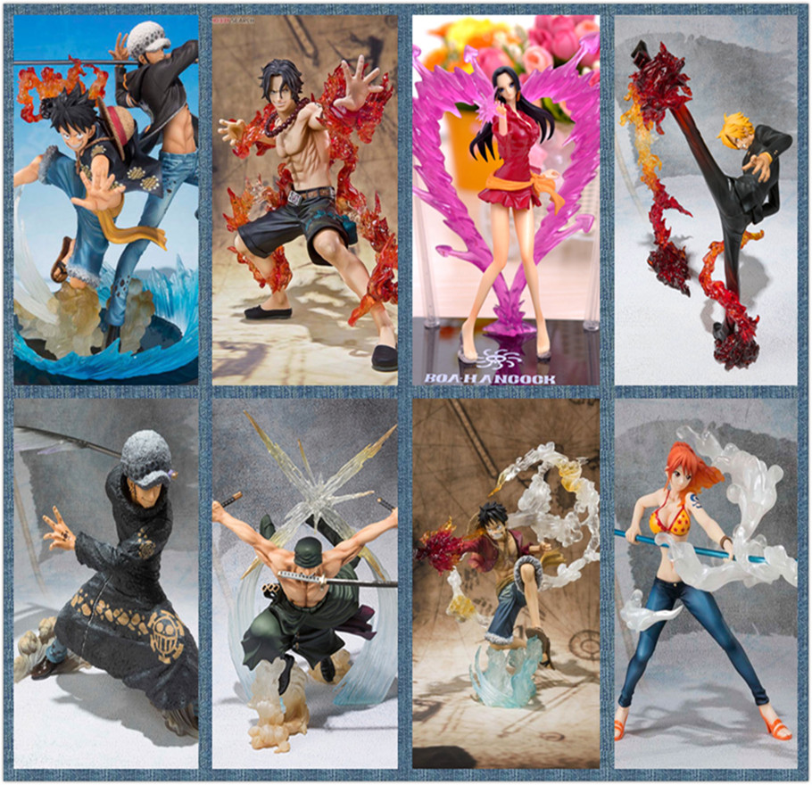 One Piece Action Figures Luffy Law Ace Zoro Nami Sanji Boa Hancock PVC Figure One Piece Nami Model Toy Onepiece-Action-Figures(China (Mainland))