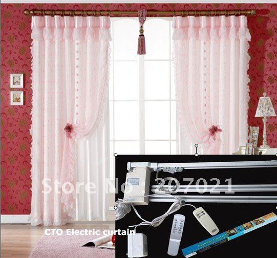 Window width 5.5 meters Remote control electric curtain System rods/poles Curtain Poles, Tracks & Accessories(China (Mainland))