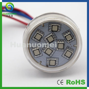 50pcs DC12V 2.7W full color led pixel amusement ride led lamp with SMD9leds(China (Mainland))