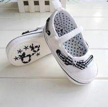 Newborn/Infant/Toddler Girl Tela Presepe Scarpe Suola Morbida Gomma/Arco/Superficiale Accogliente Supato bebe Infantil libera La Nave(China (Mainland))