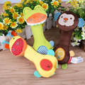 Animal Baby Kids Ring bell Child Plush Rattle Squeaker Rod Development Toy