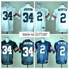 2016 New Auburn Tigers 2 Cam Newton 34 Bo Jackson College Football Jersey Embroidery Logo(China (Mainland))