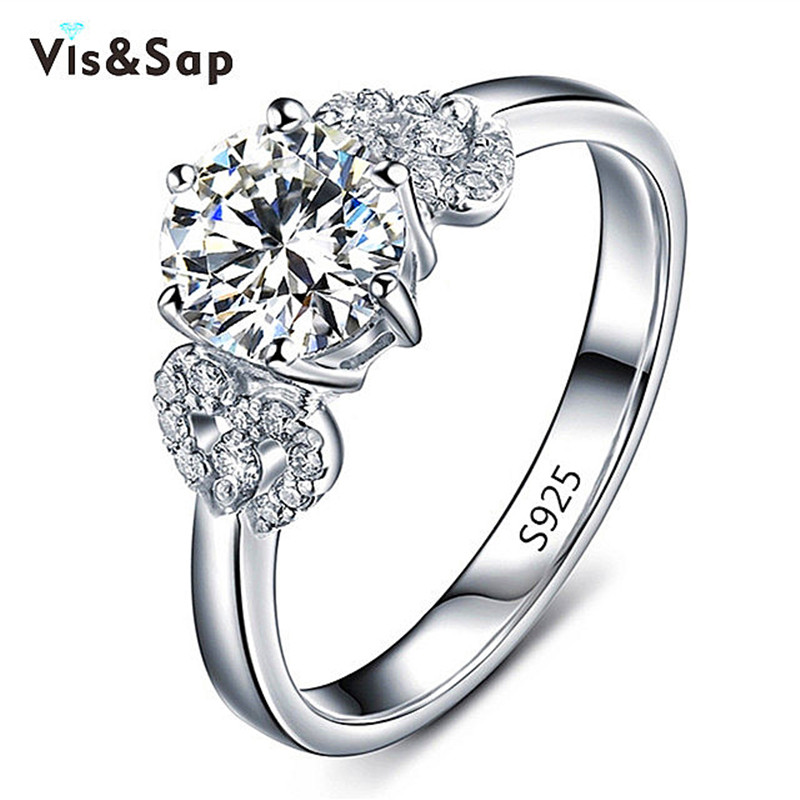 18k White gold plated flower Rings For Women wedding Ring engagement bague cz diamond romantic fashion jewelry VSR072(China (Mainland))